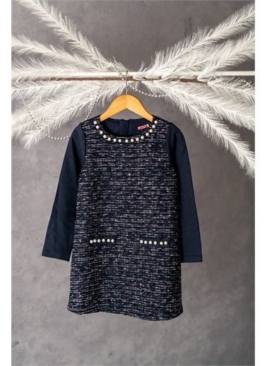 Zeyland ınci Detaylı Tüvit Elbise (5-12yaş) ınci Detaylı Tüvit Elbise (5-12yaş) Lacivert